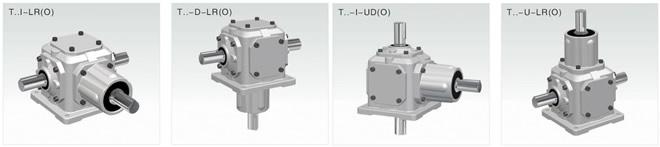 t系列螺旋錐齒輪轉向箱圖片